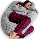 PharMeDoc Pregnancy Pillow, U-Shape Full Body Pillow and Maternity Support - Support for Back, Hips, Legs, Belly for Pregnant