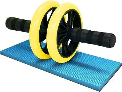 LICLI 腹筋ローラー 「簡単 筋トレ コンパクト 健康器具 」「取扱説明書 製品保証あり」「静音 高耐久性 膝クッション付き」「 お腹 アブローラー 」 4色