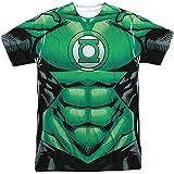 Green Lantern DC Comics Superhero Hal Jordan Costume Adult Front Print T-Shirt T