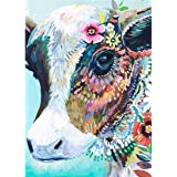 DIY 5D Diamond Painting by Number Kits Full Drill Colorful Cow Rhinestone Embroidery Cross Stitch Pictures Arts Craft for Hom