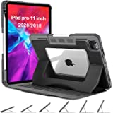 OCYCLONE iPad Pro 11 Case 2020/2018, 6 Viewing Angles Magnetic Stand + Pencil Holder + Auto Wake/Sleep + Heavy Duty Rugged Pr