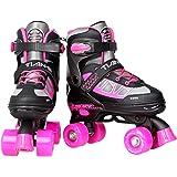 YIQI ローラースケート 子ども インラインスケート キッズ 女の子 初心者 向け サイズ調整可能 子供用 着脱/調節…
