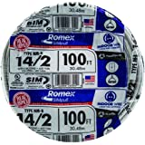 Southwire 28827428 14/2WG NMB Wire 100-Foot, Above Ground Household Wiring Use