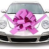 Quacoww Pink Giant Car Bow Car Pull Bow for Weeding Car Decoration, Christmas Decoration
