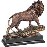 Large Lion Statue - Bronze Finish Figurine