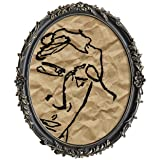 ASOWIN 11×14 Baroque Antique Oval Frame,Vintage Picture Frames for Gifts Wall Display Black