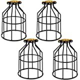Kohree Metal Bulb Guard Lamp Cage, for Pendant Light, Lamp Holder, Ceiling Fan Light Bulb Covers Vintage Open Style Industria