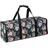 Everything Mary Collapsible Die-Cut Machine Carrying Case, Floral Print - Craft Sticker Bag Compatible with Cricut Air/Maker