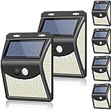 【2020最新改良版】 ZEEFO 222LED センサーライト ソーラーライト 六個セット 屋外 人感センサー自動点灯…