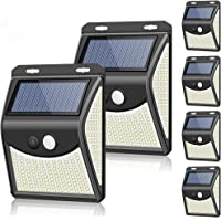 【最新改良版 六個セット】 ZEEFO 222LED センサーライト ソーラーライト 屋外 人感センサー自動点灯 防水…