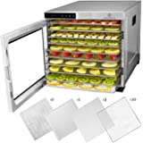 ChefWave 10 Tray Food Dehydrator Machine - Stainless Steel, Digital Temperature Control & Timer, 3 Teflon Sheets, 2 Mesh Shee