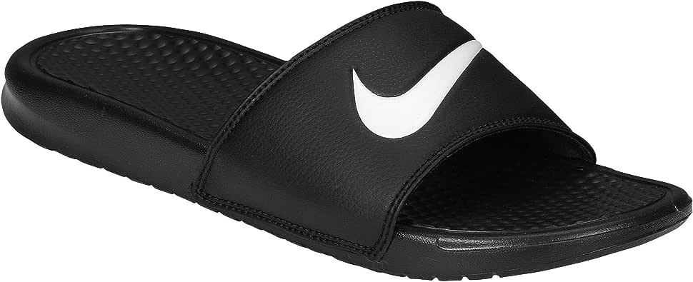 [ナイキ] benassi ベナッシ swoosh スォッシュ slide サンダル 靴 シューズ men's メンズ 男性用 - black ブラック/white 【並行輸入品】
