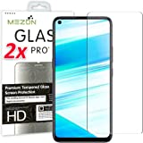 [2 Pack] MEZON Crystal Clear Premium 9H HD Tempered Glass Screen Protector for Realme 6 – Case Friendly, Shock Absorption (Re