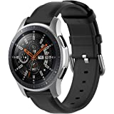 TERSELY Leather Band Strap for Samsung Gear S3 / Galaxy Watch 46mm / Watch 3 45mm, 22mm Quick Release Stainless Steel Buckle