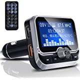 Tinzzi (第2世代) fmトランスミッター bluetooth 高音質 ハンズフリー通話 有線接続「AUX-IN…