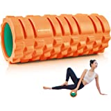 EVERYMILE フォームローラー ストレッチ 筋膜リリース 体幹トレーニング 肩こり予防 柔軟性を高め EVA素材 日本説明書付き