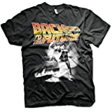 Officially Licensed Back To The Future Poster Mens T-Shirt (Black)