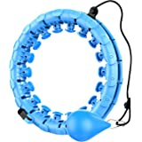 Smart Detachable Adjustable Size Hula Hoop, for Adults Weight Loss, Weighted Hula Hoop for Exercise 24 Detachable Knots do no