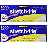 """Kirkland Signature Stretch-Tite Plastic Food Wrap - Parent (6000 SQ. FT (2 Pack, 12"""" x 3000 SQ. FT Each))"""