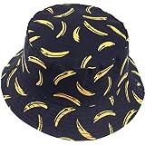 VECRY Men Summer Reversible Bucket Hat - Women Funky Fruit Print Fishmen Foldable Outdoor Cap