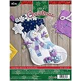 Bucilla Felt Applique Stocking Kit (18-Inch), 86703 Frosty Night