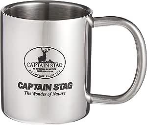 キャプテンスタッグ キャンプ用 コップ ダブル ステンレス マグカップ パラオ 220ml M-1249