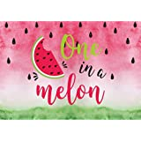 Allenjoy 7x5ft One in a Melon Watermelon Backdrop for Kids Girls 1st Birthday Party Infant Newborn Baby Shower Photography Ba