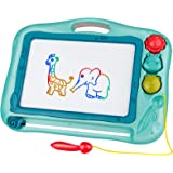 Gamenote Magnetic Drawing Board for Kids 16×12 inch - Doodle Board for Toddlers Comes with Adorable 3 Stamps, Magnet Pen, Gif