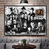 JESC Wall Painting Gangsters Godfather Art Canvas Prints Room Decor Black White Canvas Art Paintings for Bedroom Posters Wall