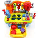 CifToys Musical Learning Workbench Toy for Kids Construction Work Bench Building Tools with Sound Effects & Lights Engineerin