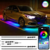 LEDCARE Car Underglow LED Lights, Dream Color Chasing Strip Lights with Wireless APP Control, Exterior Car Neon Accent Lights
