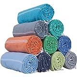 HAVLULAND Set of 6 Towel%100 Cotton Pestemal Turkish Towel 76x38 Bath Towel Turkish Beach Blanket Travel Towels Fast Drying L