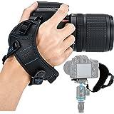 JJC DSLR Camera Wrist Hand Strap Grip w/ Arca Swiss Type Quick Release Plate for Canon 7D 7DM2 6DM2 5DM4 5DM3 5Ds R 80D 77D 7