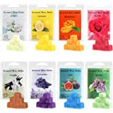 Perkisboby Scented Wax Melts, Soy Wax Cubes with Natural Essential Oil for Assorted Wax Warmer Cubes/Tarts - Rose, Fig, Laven