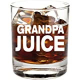 "Gifts for Grandpa -""Grandpa Juice"" - 11oz Funny Whiskey/Cocktail Glass- Gift idea from Son, Daughter, New, for Birthday, Gran"
