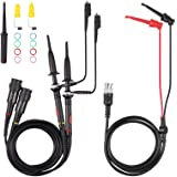 AUTOUTLET P2200 Universal Oscilloscope Probe with Accessories Kit 200MHz Oscilloscope Clip Probes 1X 10X with BNC Mini Grabbe