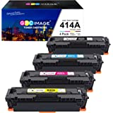 GPC Image Compatible Toner Cartridge Replacement for HP 414A W2020A 414X to use with HP Color Laserjet Pro MFP M479fdw M454dw
