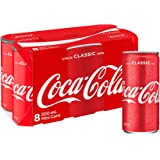 Coca-Cola Classic Soft Drink Mini Cans 8 x 200mL