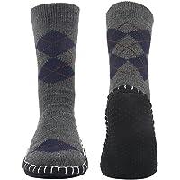 Vihir ルームソックス メンズ靴下 室内履き ルームシューズ 滑り止め加工 自宅仕事用 ニット 暖かい もこもこ 寒…
