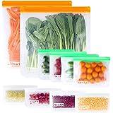Reusable Ziplock Bags Silicone Dishwasher Safe BPA FREE - Reusable Storage Bags,10 Packs