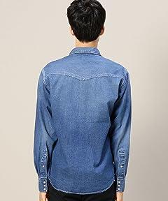 Denim Western Shirt 1211-173-6744: Turquoise