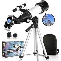 SOLOMARK 天体望遠鏡 子供 初心者 てんたいぼうえんきょう ぼうえんきょう 70mm大口径400mm焦点距離 望…