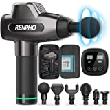 RENPHO Massage Gun, Deep Tissue Muscle Massager, Powerful Percussion Massager Handheld with Portable Case for Athletes, Back