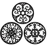 Silicone Trivet Mat - Hot Pot Holder Hot Pads for Table & Countertop - Teapot Trivet Kitchen Trivets - Non-Slip & Heat Resist