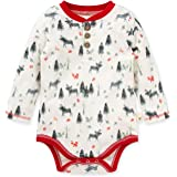 Burt's Bees Baby Baby Boys, Short Long Sleeve One-Piece Bodysuits, 100% Organic Cotton