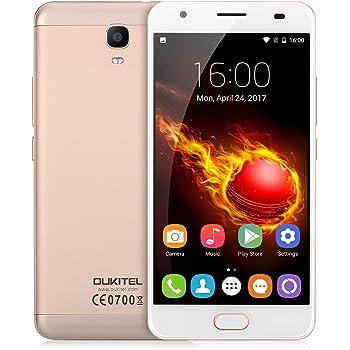 OUKITEL K6000 Plus スマートフォン SIMフリー(au不可)5.5インチ 4GB+64GB 8MP+16MP (ゴールド)