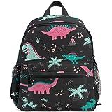 Colorful Dinosaur Kid's Backpack Toddler Bag for Girls Boys,Kindergarten Schoolbag Preschool Nursery Travel Bag with Chest Cl