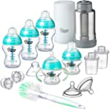 TOMMEE TIPPEE Advanced Anti Colic Newborn Baby Bottle Feeding Gift Set, Teal