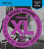 D'Addario ダダリオ エレキギター弦 ニッケル SuperLight 7弦 .009-.054 EXL120-7 【国内正規品】