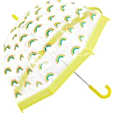 Clifton Umbrellas K1-CPPVC800-RBOW Kids' Birdcage Rainbow Umbrella, PVC, Kid Friendly, Yellow